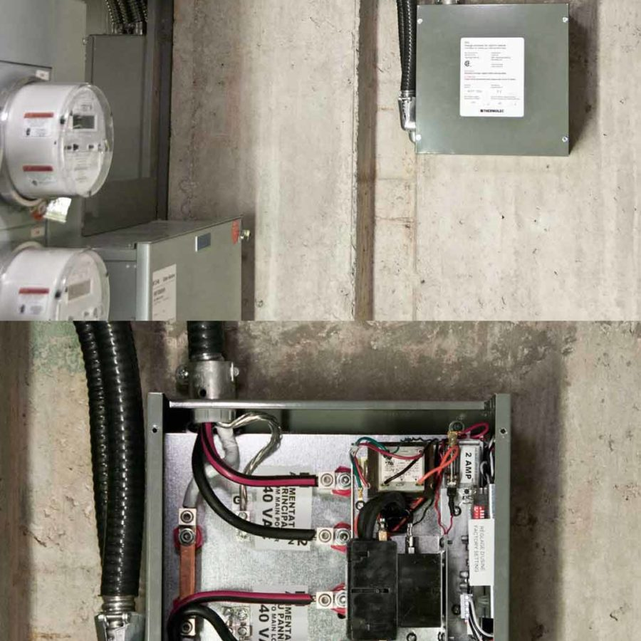DCC-9 installed in a condo to allow for EV home charging.