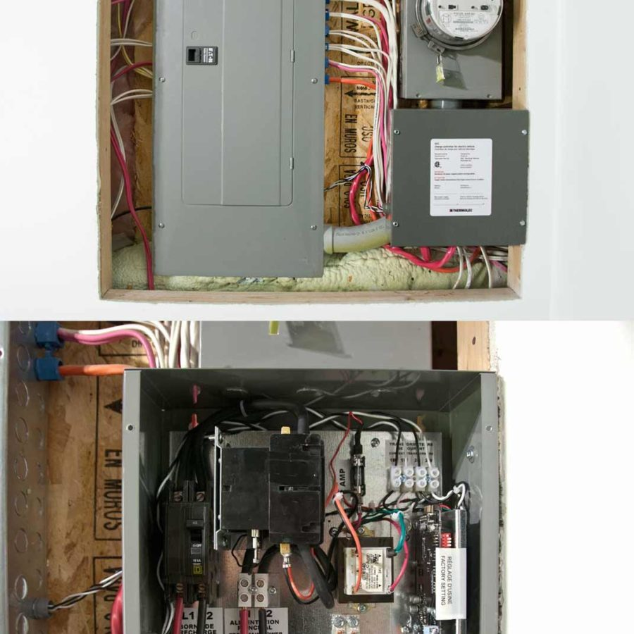 DCC-10 installation in a home with no available breaker space.