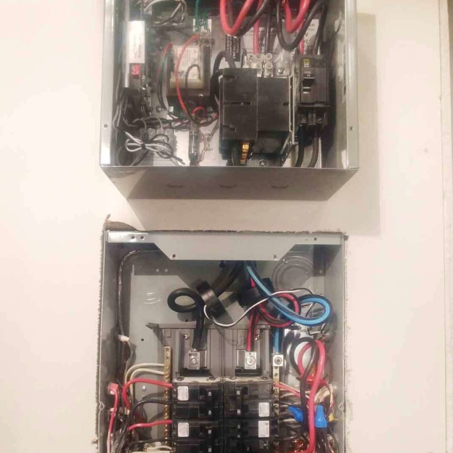 DCC-10 installation in a home with the main panel.