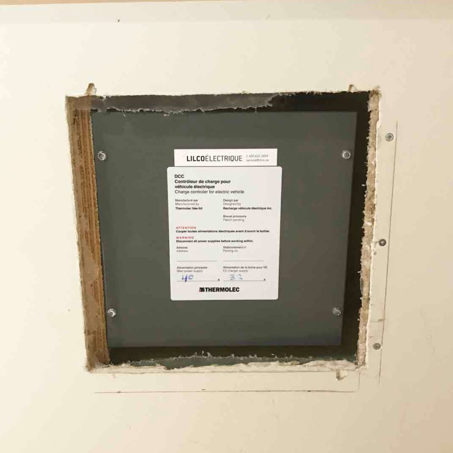 DCC-10 installation in a home with no breaker space available to allow for an EV charger.