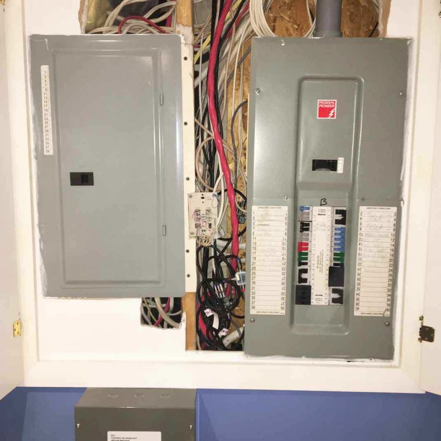 DCC-10 installation in a home where no breaker space was available.